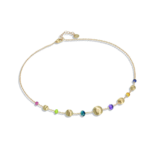 Marco Bicego® Collection Africa 18K Yellow Gold Mixed Gemstone Necklace