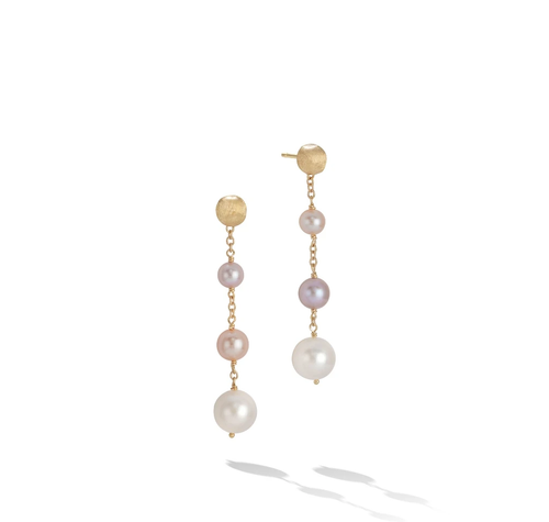 Marco Bicego® Africa Pearl Collection 18K Yellow Gold and Pearl Drop Earrings
