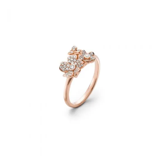 Mikimoto Cherry Blossom Ring in Pink Gold