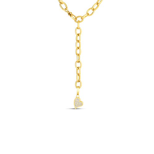 Roberto Coin 18K Gold and Diamond Princess Heart Charm ( Necklace not included)