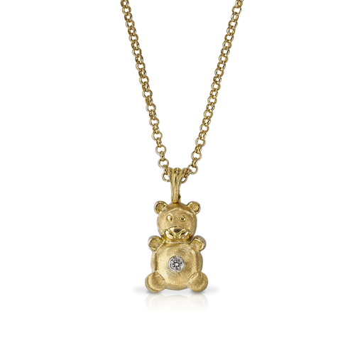 Buccellati Bubu Bear Pendant Necklace