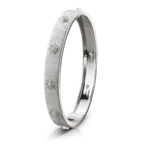 Buccellati Macri Classica Bangle Bracelet White gold and Diamonds