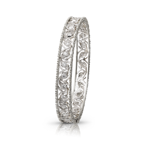 Buccellati Ramage White Gold Bangle Bracelet