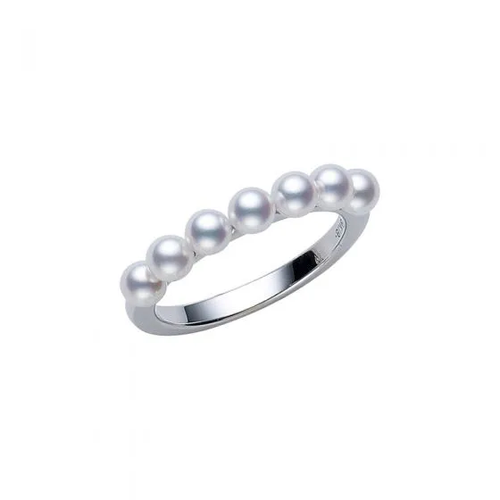Akoya Cultured Pearl Ring in White Gold