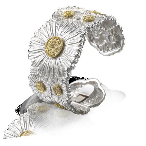Daisy Medium Bracelet with Brown Diamonds