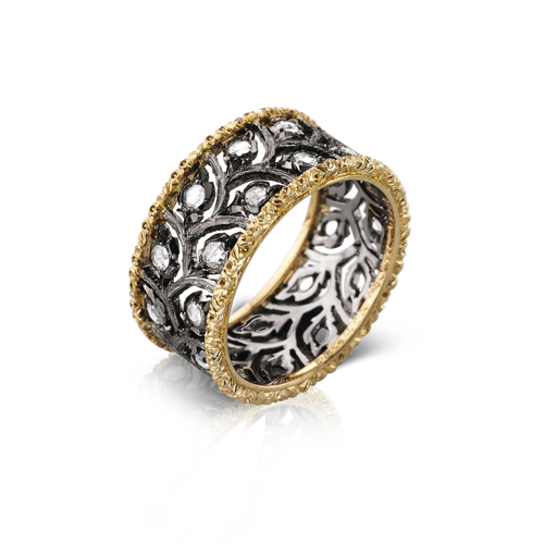 Ramage Eternelle Ring with Burnished Finish