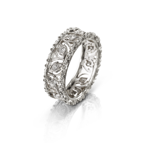Ramage Eternelle Ring in White Gold and Diamonds