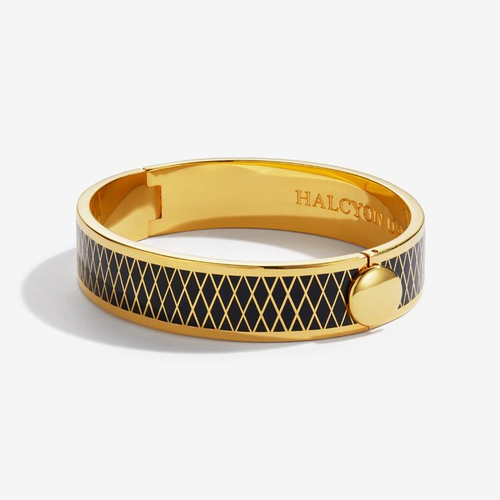 Parterre Black and Gold Bangle
