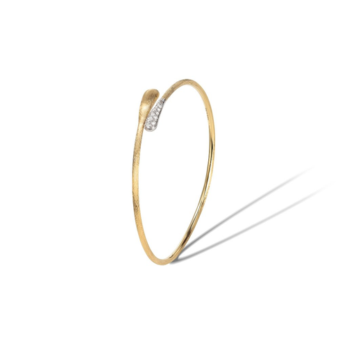 Lucia Collection 18K Yellow Gold and Diamond Hugging Cuff