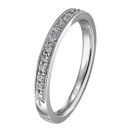 Scott Kay The Crown Wedding Band Single Diamond Strip 0.22ct