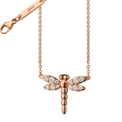 "Diamond Critter Dragonfly ""Grace"" Necklace"