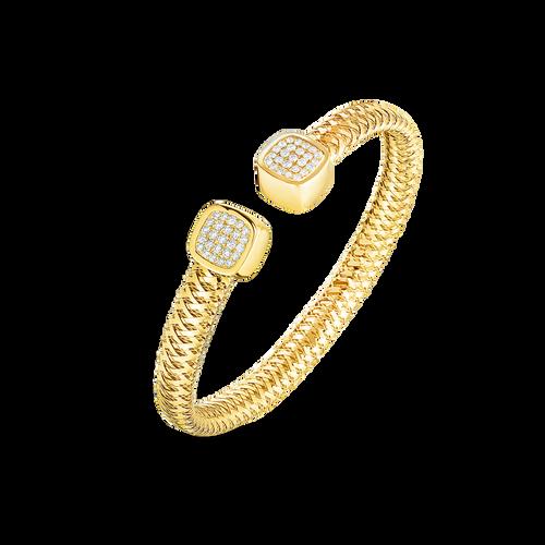 18K  Gold Primavera Flexible Cuff with Diamonds