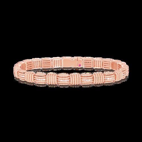 18K Rose Gold Opera Diamond Flexible Bracelet