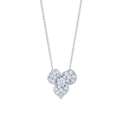 Floral Pendant with Diamonds