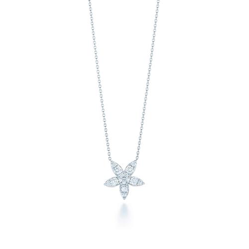 Sunburst Star Pendant with diamonds