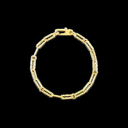 18K Fine Paperclip Link Bracelet - 7'' Length