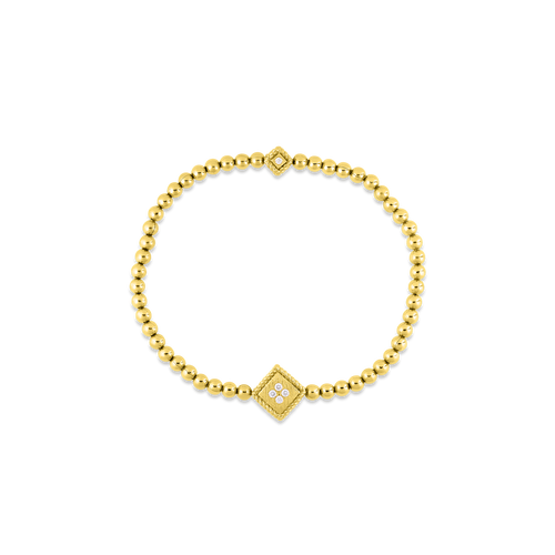 18K Palazzo Ducale Stretch Bracelet with Diamond Accent