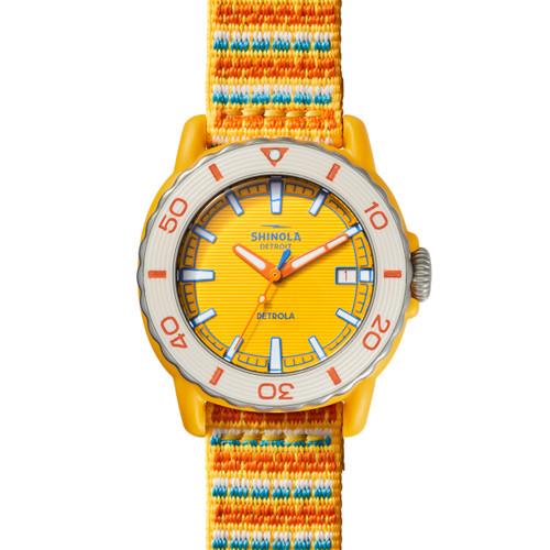 Shinola Sea Creatures 40mm Watch in Yellow/Multi-Yellow