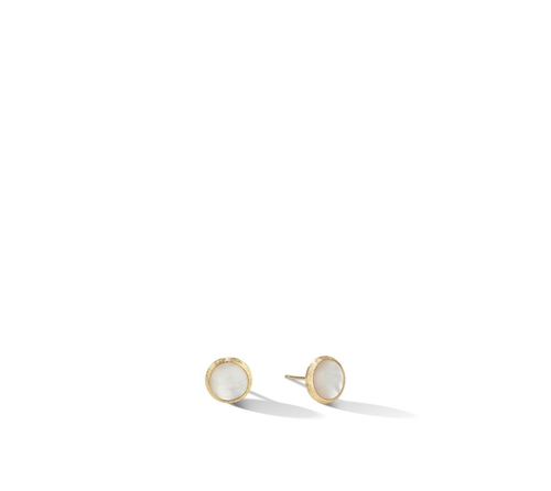 Jaipur Color Collection 18K Yellow Gold Mother Of Pearl Stud Earrings