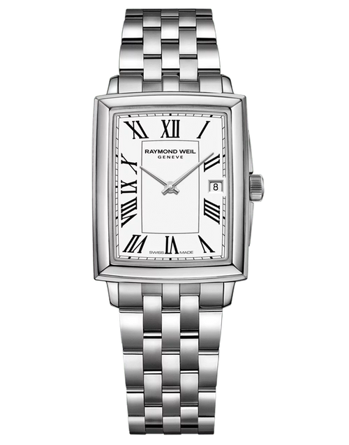 Toccata Ladies Stainless Steel Quartz Watch RAYMOND WEIL toccata 25 mm, stainless steel, white dial, black roman numeral indexes