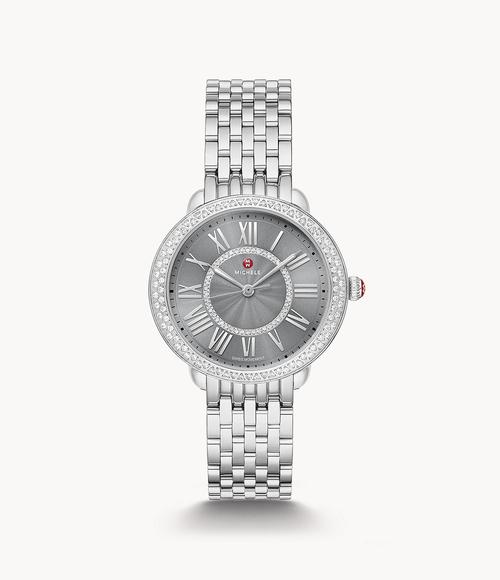 Serein Diamond Stainless Steel Watch Slate Sunday Dial
