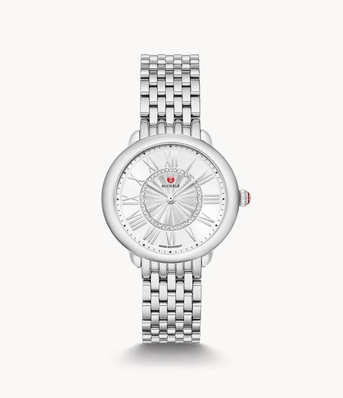 Serein Mid Stainless Diamond Dial Watch