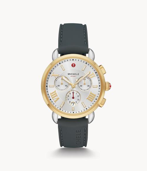 Sporty Sport Sail Two-Tone Watch- Gray Strap