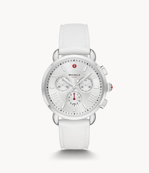 Sporty Sport Sail Stainless Watch- White Strap