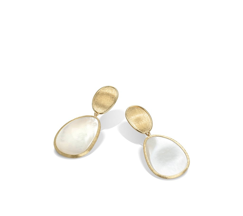 Marco Bicego® Lunaria Collection Petite 18K Yellow Gold & White Mother of Pearl Earrings