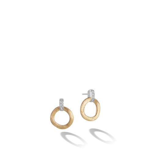 Jaipur 18K Yellow Gold Stud Drop Earring with Diamonds