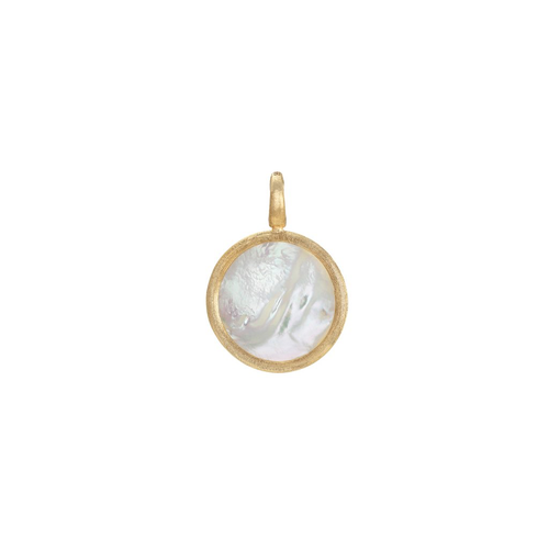 Jaipur Collection 18K Yellow Gold Medium Stackable Pendant- Mother of Pearl