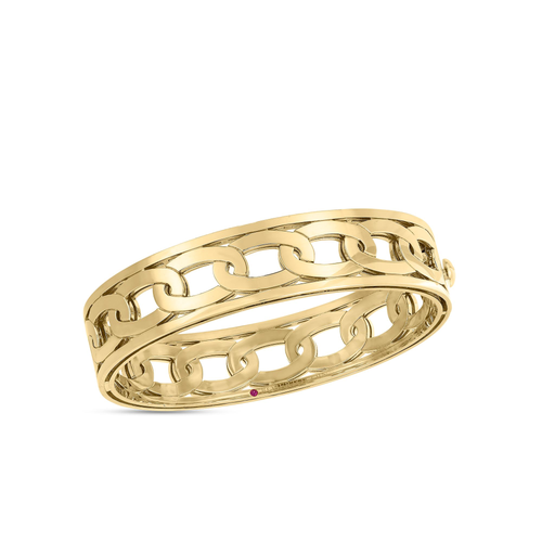 Navarra Medium Width Gold Bangle