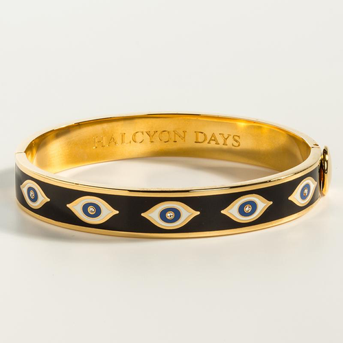 Evil Eye Midnight Blue & Gold Bangle