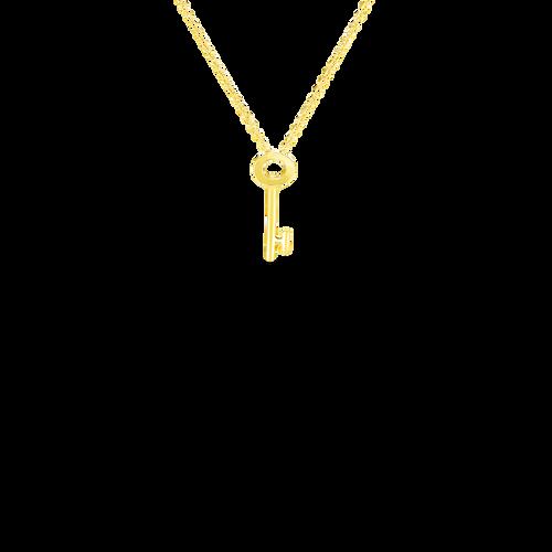 Tiny Treasures 18K Yellow Gold Key Necklace