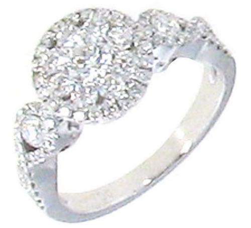 Roberto Coin Fantasia 18K White Gold Diamond Ring (1.08 cts)