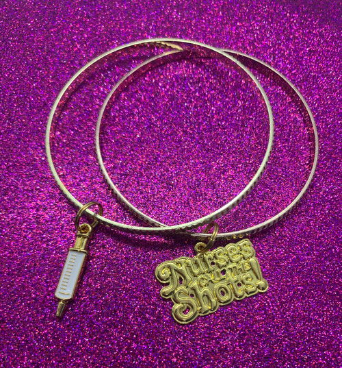 Nurses Call The Shots Bangle Set