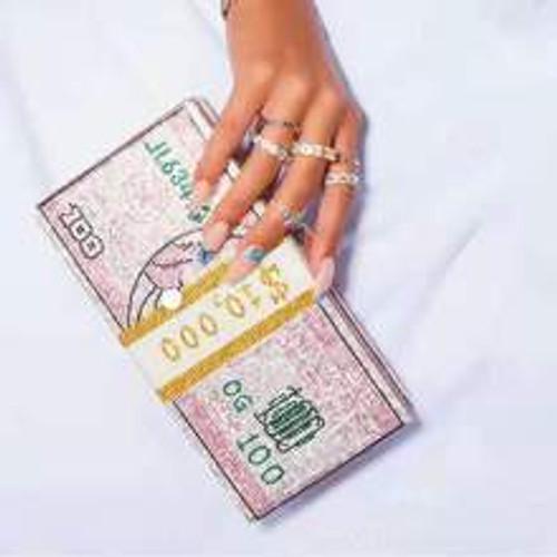 Diamond Dollar Slippers and Matching Bag Set