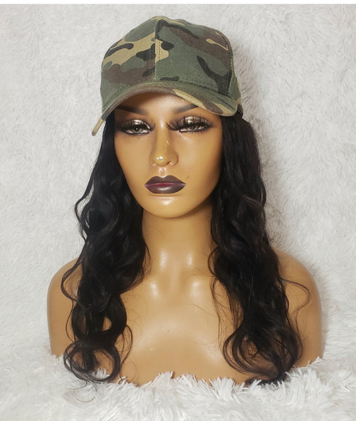 Crystal  Human Hair Hat Wig