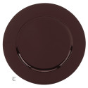 Brown Round Charger Plate, Case of 12