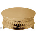 "14"" Gold Finish Round Cake Stand, Contemporary"