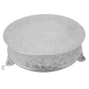"14"" Round Cake Stand, Floral Design"