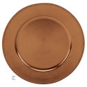 """13"""" Copper Beaded Charger Plate, Sample"""