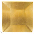 Gold Square Charger Plate, Sample