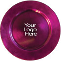 Heat Imprint Raspberry Round Charger, Case of 12