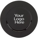 Laser Engraved Black Round Charger, Case of 12