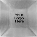 Laser Engraved Silver Square Charger, Case of 12