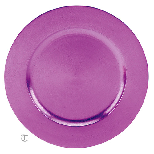 Purple Round Charger Plate, Case of 12