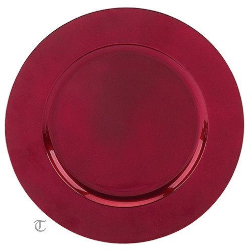 Red Round Charger Plate, Case of 12