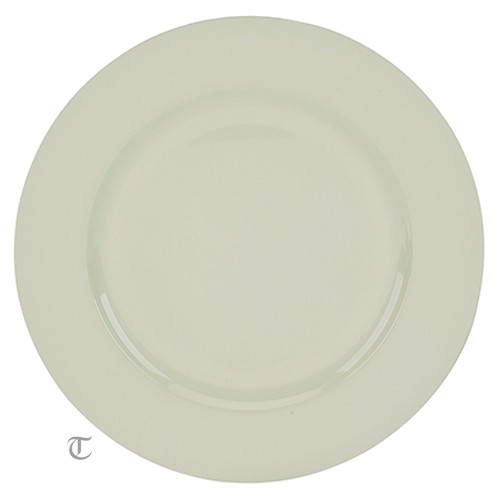 White Round Charger Plate, Case of 12