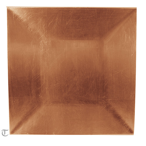 Copper Square Charger Plate, Case of 24